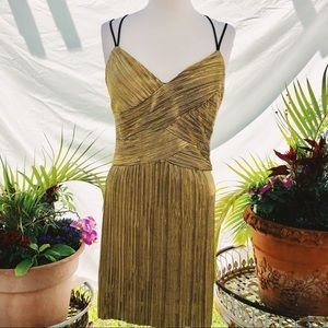 Frederick's of Hollywood Gold Lame Dress